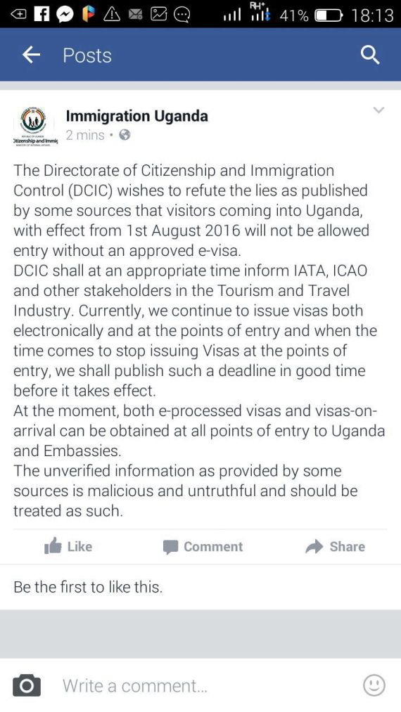 Immigration notice 28Jul16